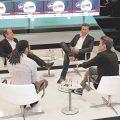 Debate Hall der dmexco: Dominik Dommick (3. v.L.) in der Debatte.
