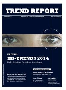TREND REPORT 01/2014 Titelseite