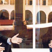 Jan Stenger (li.) und Volker Pruschke im Gespräch mit der TREND-REPORT-Redaktion