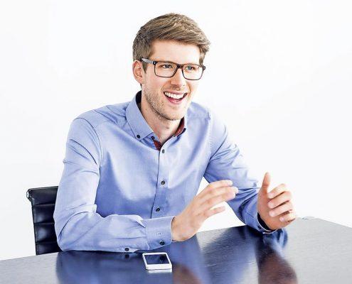 """""""Wir sind effizienter als eine Bank und dem Unternehmer und seinem Geschäftsmodell gegenüber sehr wertschätzend"""", legt Christopher Grätz dar."""