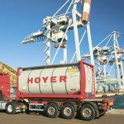 Die Temperatur des Hoyer-Containers wird durch die Telematik-Systemlösung von Savvy überwacht, gesteuert und aufgezeichnet.