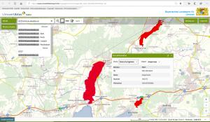 Schutzbedarf: Geoinformationen können sehr umfassend sein. Das Beispiel zeigt einen Ausschnitt der bayerischen Biotop-Kartierungen. Quelle: Umweltatlas.bayern.de